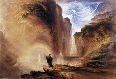 Manfred et la sorcière des Alpes (2), aquarelle de John Martin (1789-1854, United Kingdom)