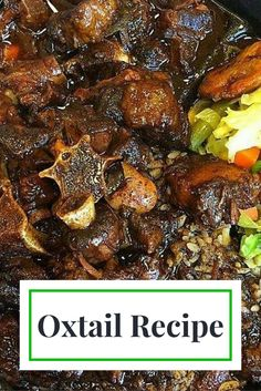 Jamaican Oxtails and Beans Recipe is part of Oxtail recipes Learn how to make the best Jamaican Style Oxtails and Beans My Jamaican Oxtails and Beans recipe is a slowcooked, thick and savory beef - Oxtail Recipes Crockpot, Slow Cooker Recipes, Beef Recipes, Cooking Recipes, Curry Recipes, Cheap Recipes, Recipies, Jamaican Cuisine, Jamaican Dishes
