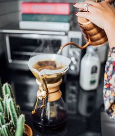 Time for a big cup of coffee. Do you usually have coffee at home or from a coffee shop? ☕️ by from our home tour with Big Cup Of Coffee, Coffee Shot, Pour Over Coffee, Coffee Is Life, Coffee Love, Coffee Break, Coffee Cups, Chemex Coffee, Coffee Talk