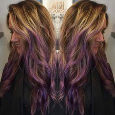 Balayage done then added violet hues ig my_lavish_looks