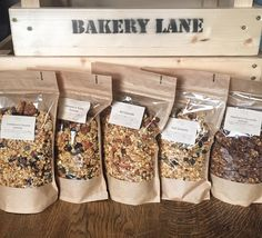 Have you tried our delicious range of granolas yet, 5 flavours for you to choose from! We will be at @torphinsmarket tomorrow and @inschmarket on Friday or we can arrange delivery in Aberdeen and Aberdeenshire: frombakerylane@gmail.com #granola #healthybrekkie #homemade #nut #seeds #fruit #glutenfree #chocolate #delicious