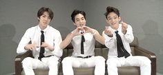 EXO - Sehun, Xiumin and Chen