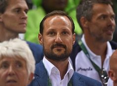 Crown Prince Haakon of Norway, watched the women's semifinal handball match between Norway and Russia at the 2016 Summer Olympics at the Future Arena on August 18, 2016 in the Olympic Park in Rio de Janeiro, Brazil, Thursday, Aug. 18, 2016.