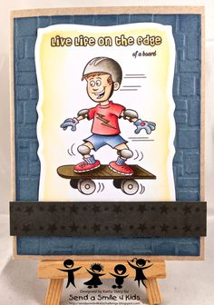 Stitchy Bear Skateboarder-wm