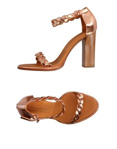 Veronique Branquinho Women Sandals on YOOX. The best online selection of Sandals Veronique Branquinho. YOOX exclusive items of Italian and international designers - Secure payments Veronique Branquinho, Soft Leather, Copper, Women's Sandals, Detail, Heels, Shopping, Products, Fashion