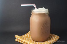 Chocolate Breakfast Shake for under 250 calories and packed with protein