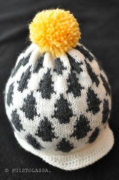 Tässäpä nyt edellisessä postauksessa vilahtanut kuusipipo valmiina. Helppo varmaan arvata että innoituksena toimi Fine little d... Knitting For Kids, Crafts To Do, Handicraft, Knitted Hats, Knitwear, Knit Crochet, Handmade, Crocheting, Clothes