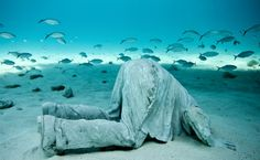 home - Underwater Sculpture by Jason deCaires Taylor. Clicks to the artist's website. Stunning and emotional.