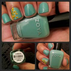 Woa! Zoya Nail Polish in Wednesday with flower accent shared via Instagram