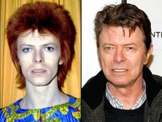 David Bowie  then and now...