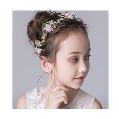 Campsis Flower Headpiece Crystal Wedding Headband Princess Flower Girl Hair Dress for Girls Gold ** More info could be found at the image url. (As an Amazon Associate I earn from qualifying purchases) Headband Wigs, Headband Styles, Flower Girl Hairstyles, Dress Hairstyles, Princess Flower, Hair Decorations, Flower Headpiece, Wedding Headband, Wedding Hair Pieces