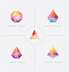 Diamond prism logo icon shapes vector                                                                                                                                                                                 More