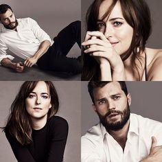 "fydakotajohnson: """"New pictures of Dakota and Jamie for JOY and GQ magazine (2017). Credit: @FiftyShadesEN. "" """