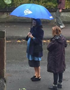 Outlander filming Season 3 Voyager in Glasgow with Caitriona Balfe as  pregnant Claire Randall Fraser - September 2016