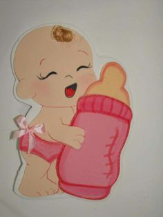 Resultado de imagen para moldes bebita para baby shower en goma eva