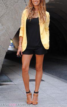 #yellow #blazer