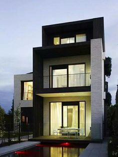 An art deco Melbourne house is revived in a grand, contemporary way, by Kerry Phelan Design Office and Chamberlain Javens Architects. (from Australia Art Architecture) Residential Architecture, Contemporary Architecture, Interior Architecture, Melbourne Architecture, Installation Architecture, Building Architecture, Beautiful Architecture, Contemporary Interior, Home Design