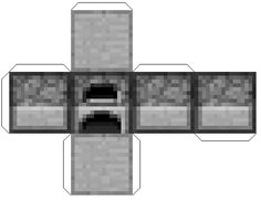 From 8 of the cobblestone, we create the second most awesome piece of equipment. The furnace. Papercraft Minecraft Skin, Easy Minecraft Houses, Minecraft Bedroom, Minecraft Pixel Art, Minecraft Furniture, Minecraft Skins, Minecraft Buildings, Minecraft Templates, Minecraft Projects