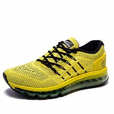 new products 38e82 7c0fb ONEMIX Womens Air Running Shoes,Sloping Tongue Design, Yellow Black, Womens  8.5(M) Mens 7(M)US 40EU