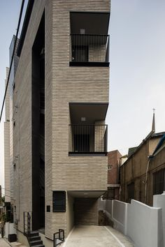 Micro Housing K, Seoul : Architects Micro House, My House, Exterior Design, Interior And Exterior, Brick Construction, Interior Architecture, Beautiful Homes, House Design, House Styles