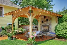 Landscape Design, Pictures, Remodel, Decor and Ideas - page 31 I like fire place combined into gazebo neat idea!