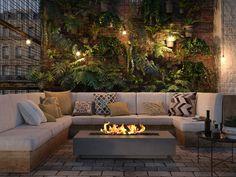 Cozy Backyard, Backyard Seating, Backyard Patio Designs, Outdoor Seating Areas, Fire Pit Backyard, Outdoor Lounge, Outdoor Spaces, Outdoor Living, Outdoor Decor
