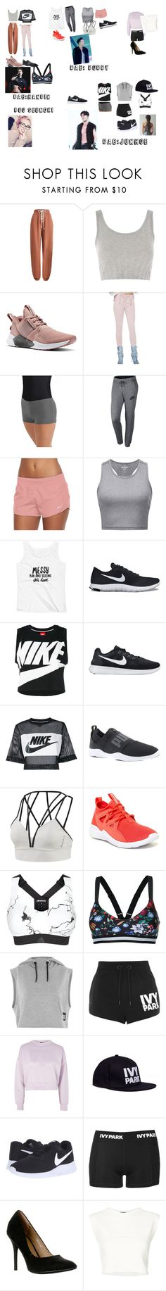 """""""Ikon outfits pt.1"""" by minianajesus ❤ liked on Polyvore featuring Puma, Topshop, Reebok, Dance & Marvel, NIKE, adidas, The Upside and Ivy Park"""