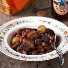 Baked beans with pork belly