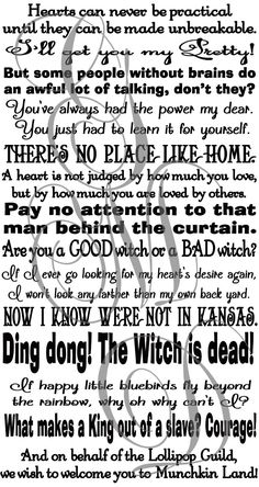 Amazon.com: Wizard Of Oz Quotes Assorted Sayings Vinyl Wall Decal Or Stairs  Decal