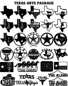 Texas Arts and Cowboys - DXF files Cut Ready CNC Designs - DXFforCNC.com,  It is magic elements of your garden and home decor. These files contain collection of 30 Texas Arts (, longhorn ) with popular words (Texas, Texas Cowboy, Texas style BBQ, Texas map, Texas flag, horses, star, armadillo, The Alamo, Home, don't miss with Texas, Longhorns) illustrated in decorative view and delivered in dxf files cut ready cnc designs. All our dxf designs are ready for most CNC cutting machine