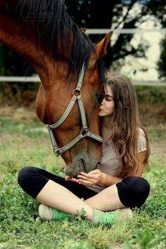 Love it. Hest, horse, girl, woman, female, friendship, love, cute, cuddling, photograph, photo