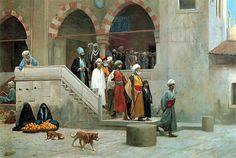 Leaving the Mosque by Jean-Léon Gérôme