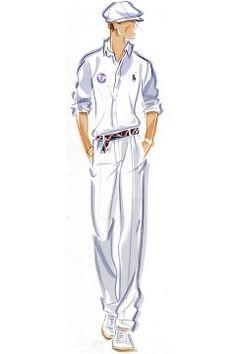 Ralph Lauren sketch of U.S. Olympic Team Men's Closing Ceremony Uniform