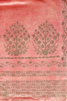 A Mariano Fortuny stencilled pink velvet mantle, circa 1920