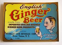English Ginger Beer - vintage soda label English Beer, English Food, Vintage Labels, Vintage Ads, Vintage Food, Bubble And Squeak, Vintage Sweets, Food Signs, Vintage Typography