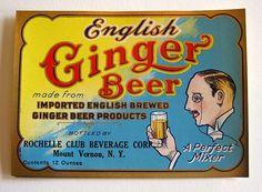 English Ginger Beer - vintage soda label