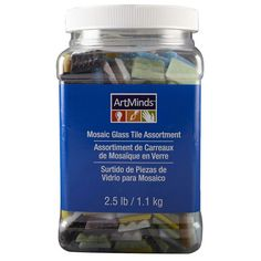 Save money and have fun with this value-sized jar of glass mosaic tile in its most versatil...