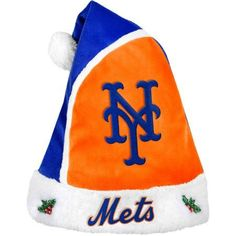 Forever Collectibles MLB 2015 Santa Hat, New York Mets, Orange
