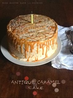 "Antique Caramel Cake | une gamine dans la cuisine - A caramel cake with caramel cream cheese frosting, and salty caramel sauce . . . moved to my ""to  do"" list."