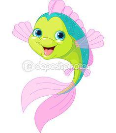 Cute cartoon fish — Stock Vector © Dazdraperma #30422995