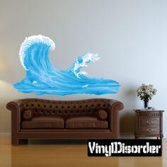 Ocean Waves Wall Decal - Vinyl Car Sticker - 1