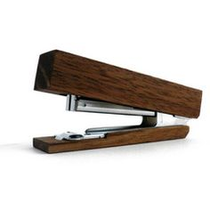 Wood stapler. I am all about the wooden accessories.