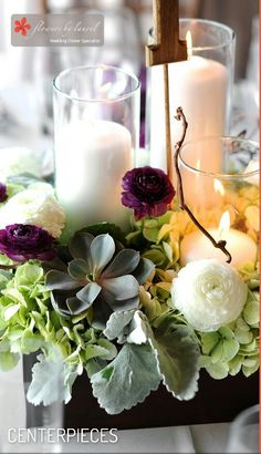 Perfect example of what I'd love for me wedding centerpieces!!!