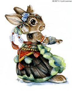 Gypsy Belly Dance Bunny