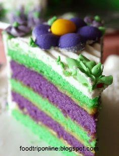How to make Ube-Pandan Layered Cake