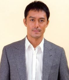 "abe hiroshi older but still a good looking guy. I like him from, ""At home dad."""