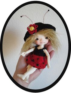 WIP - Ladybug Pattern for Enyo / Lati Yellow and PukiFee Dolls my Etsy Shop: www.peggytoes.etsy.com