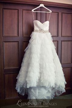 Kenneth Poole strapless wedding dress gown