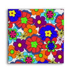 Hippy Retro Flowers Envelopes - $1.25 - Hippy Retro Flowers Envelopes - by #RGebbiePhoto @ zazzle - #hippy #flower #retro - Colorful retro style flowers, hippy style in bright colors! Large petal flowers in a jumbled assortment. 70s Hippy look, great throwback item!