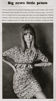 Pattie Boyd in Biba 1965 for Vanity Fair
